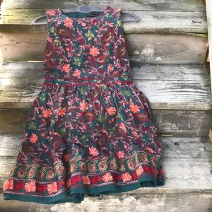 Adelyn Rae embroidered/brocade dress, size 12
